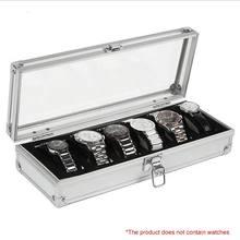 6 ячеек со вставками для ювелирных изделий чехол хранения алюминиевая
