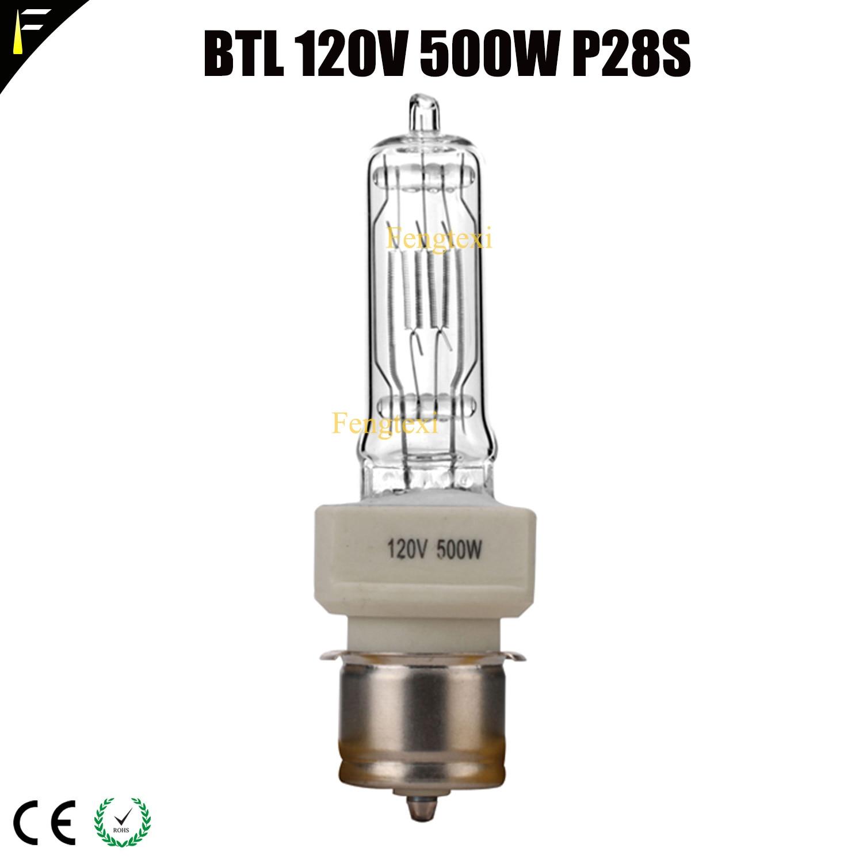 Marine Nautical Ship Light Bulb Stage Halogen Bulb BTL 120V 500W P28S Film Television TV Projector Lamp Quartz Bulb