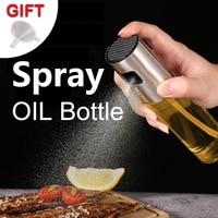 Aço inoxidável óleo de oliva spray garrafa de óleo vinagre spray garrafas de água bomba de molho barcos grill churrasco pulverizador ferramentas de cozinha para churrasco|Conjuntos de acessórios p/ cozinha| |  -