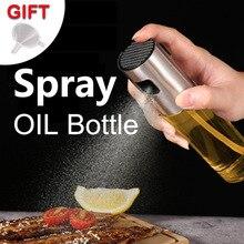 Stainless Steel Olive Oil Spray Bottle Oil Vinegar Spray Bottles Water Pump Gravy Boats Grill BBQ Sprayer BBQ Kitchen Tools