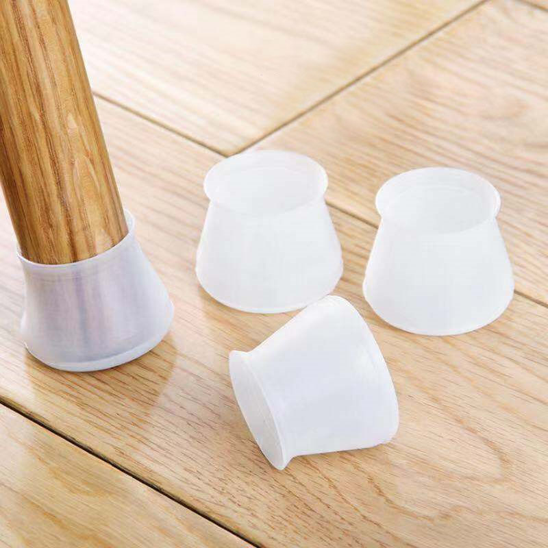 4/8Pcs Table Chaie Leg Caps Silicone Chair Foot Cap For Finiture Feet Protector Pads Non Slip Wood Floor Protectors