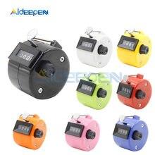 Compteur numérique électronique Portable à 4 chiffres, compteur mécanique manuel, minuterie de comptage, football, Golf, Sport, 8 couleurs