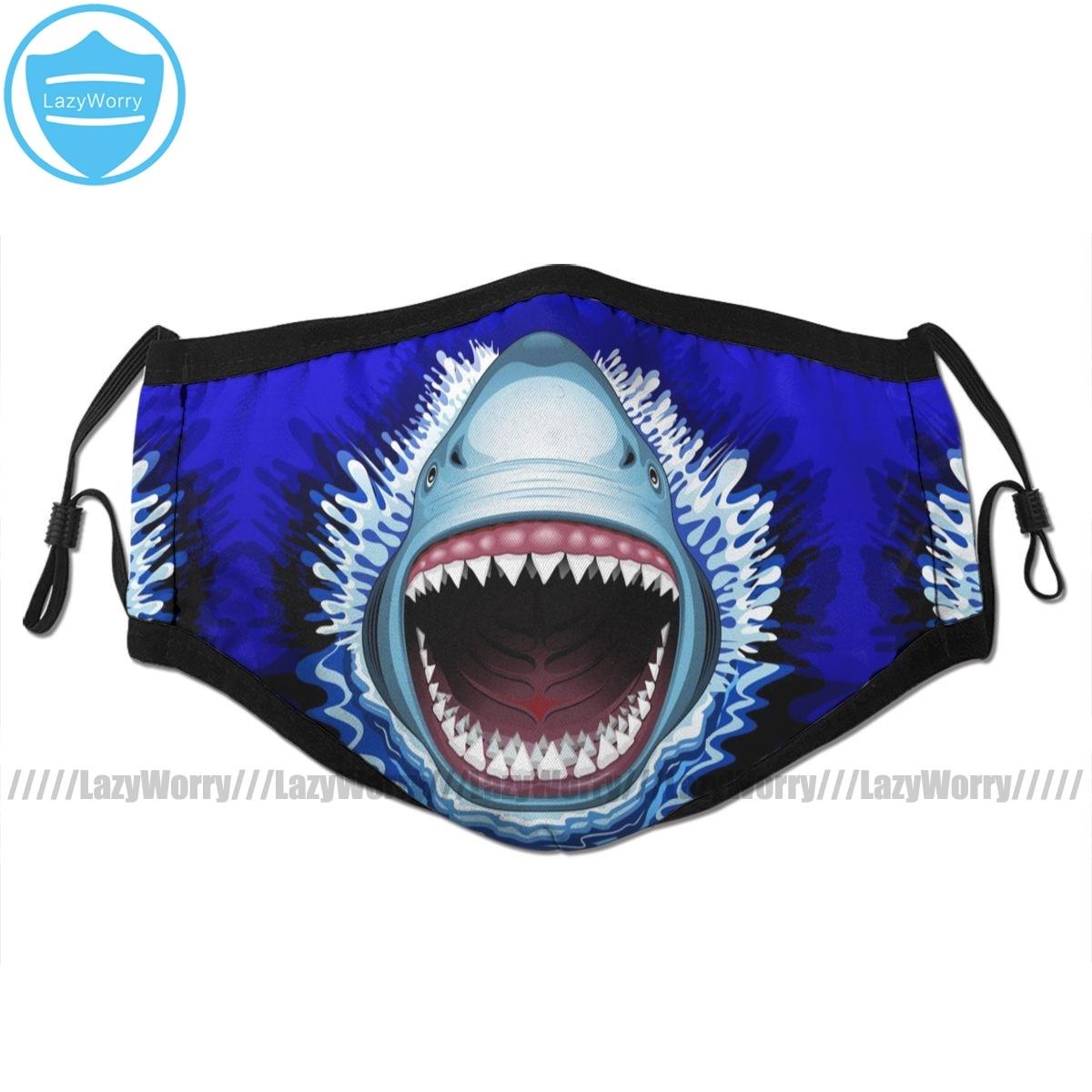サメの口の口フェイスマスクサメ顎攻撃フェイシャルマスク河合面白い 2 フィルタ大人のためのマスク   -