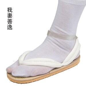 Image 3 - Anime Cosplay Kamado Nezuko Geta takunya iblis avcısı Kimetsu hiçbir Yaiba sandalet ayakkabı Kamado Tanjirou Agatsuma Zenitsu Flip flop