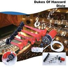 Клаксон dixie с 5 трубками громкие красные трубы музыкальные