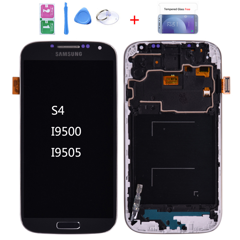 For <font><b>Samsung</b></font> <font><b>Galaxy</b></font> <font><b>S4</b></font> i9505 <font><b>i9500</b></font> i337 LCD Display and <font><b>Touch</b></font> <font><b>Screen</b></font> Digitizer Assembly With Frame Can be adjust the brightness image