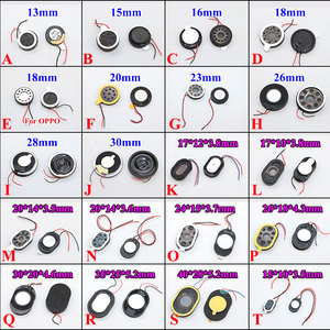 Round Loudspeaker 13mm 15mm 17 18 20 23 26mm 28 30 35 40 mm Buzzer Ringer Sound Speaker Replacement For Cell Phone With Two Line(China)
