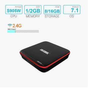 Image 3 - Mecool M8S PRO W Smart TV Box Android 7.1 Amlogic S905W 1GB 8GB 2GB 16G Media Player Support IP TV Box 2.4G WiFi PK x96 mini