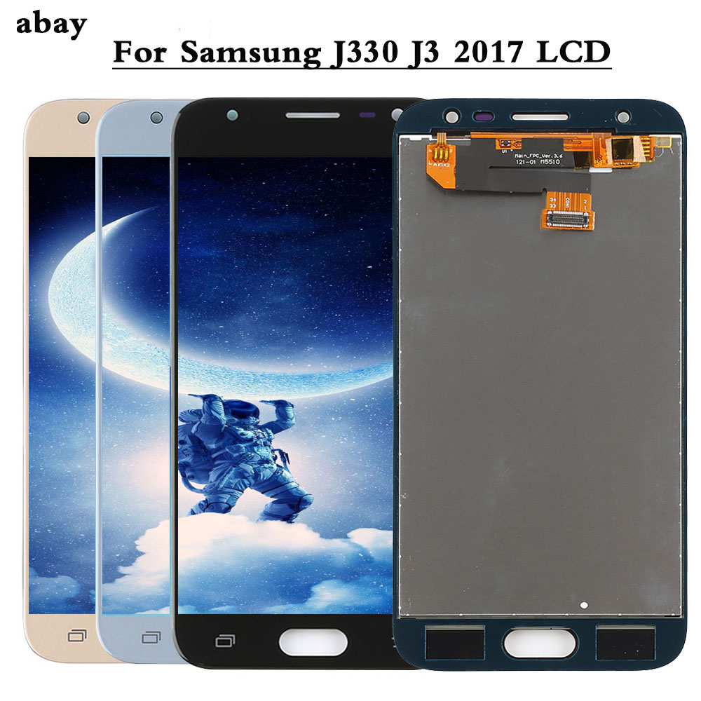 Replacement LCDs For Samsung Galaxy J3 2017 J330 J330F LCD Display Touch Screen Digitizer Assembly Adjust Brightness Repair Part|Mobile Phone LCD Screens| |  - title=