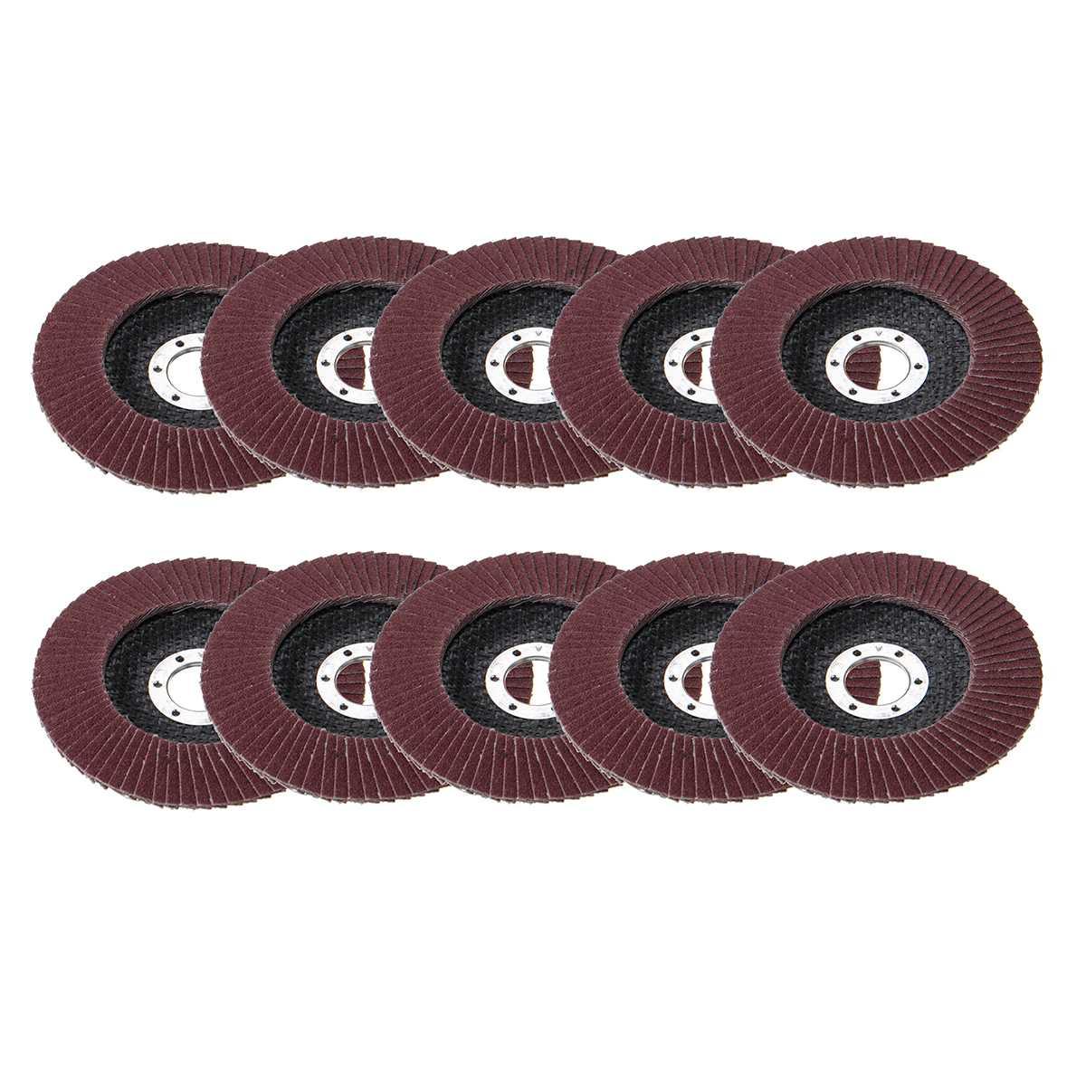 10pcs Sanding Flap Discs 115mm 125mm 40/60/80/120 Grit Metal Sanding Flap Discs Angle Grinder Wheels