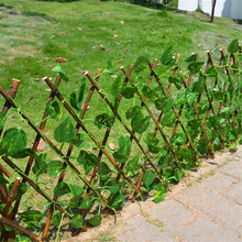 Wooden Fence Balcony Fence Holiday Party Decoration Green Vine 1pc 40cm Artificial Plant Telescopic Fence Home Garden Decoration