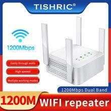 Tishric dupla frequência 2.4/5ghz wifi repetidor roteador M-1200 vpn sem fio wifi extensor repetidor sem fio wifi impulsionador repetidor