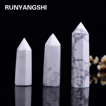 4-7 см 1 шт. натуральный howlite Кристалл точечный заживляющий кварцевый кристалл офисное украшение Кабинет Украшение