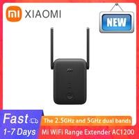 Nueva versión Global Xiaomi Mi rango WiFi extensor AC1200 de 2,4 GHz y en la banda de 5GHz puerto Ethernet de 1200Mbps amplificador de señal WiFi Router