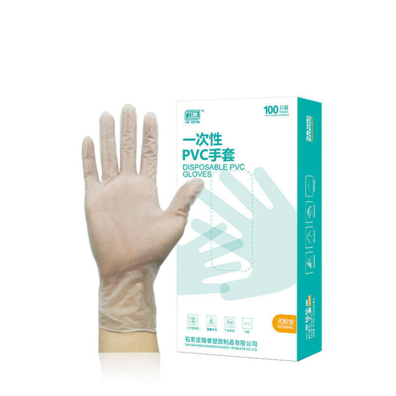 100Pcs A Box Transparent Gloves Home Kitchen Disposable PVC Gloves Cooking Clean Kitchen Tool Washing Gloves S/M/L/XL Hot Sale