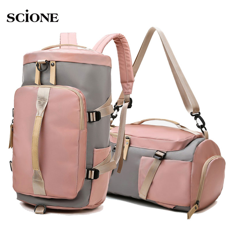 Women Gym Bag Backpack Fitness Bags For Shoes Outdoor Shoulder Gymtas Tas Sac De Sport Mochila 2019 Student Sportbag XA891WA