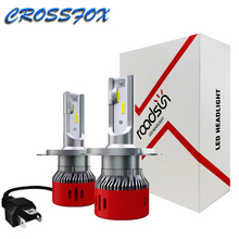 Auto Led H7 Headlight H1 H8 H9 H11 9005 HB3 9006 HB4 H4 Car Bulb CSP Chip Cooling Fan Lamp Bulbs LED 6000K