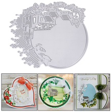 Decoration Flower House Embossing Cutting Die Metal Stencil For DIY Scrapbooking Card Making Album Crafts