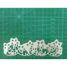 151*48mm Cutting Dies Making Scrapbook Greeting Card edge Lace Hollow Border Metal Stencil Frame Embossing