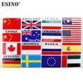 Классный модный автомобильный Стайлинг, Национальный флаг, 3D металлический хромированный знак из алюминиевого сплава, эмблема, наклейка, а...