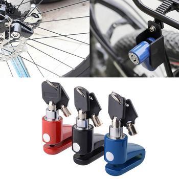 Zmodyfikuj blokada do motocykla zabezpieczenie z zabezpieczeniem przeciw kradzieży hamulec rowerowy blokada do motocykla zabezpieczenie przed kradzieżą do motocykla skuter M4D2 tanie i dobre opinie METAL Bicycle mountain bike lock