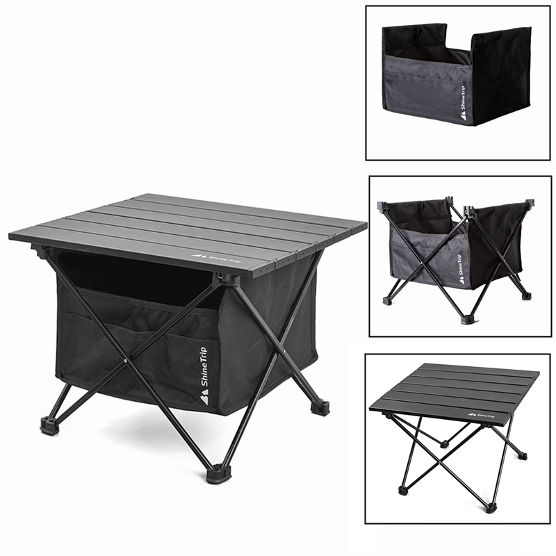 1Pc Portable Outdoor Camping Folding Table Detachable Fishing Picnic Ultra-light Mini Desk with Storage Bag