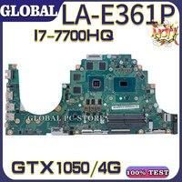 KEFU para ACER placa base de computadora portátil ACER Aspire VX5-591 VX5-591G placa base prueba bien LA-E361P CPU I7-7700HQ GTX1050 C5PM2