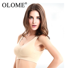 Sexy Underwear Seamless Push Up Bra Women Fitness Gym Running Bralette Vest 3 Colors No Wire-rim Bras Female Breathable