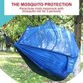 Портативный гамак с сеткой от насекомых палатка садовый гамак наружная качающаяся кровать садовая мебель парашют гамак кемпинг