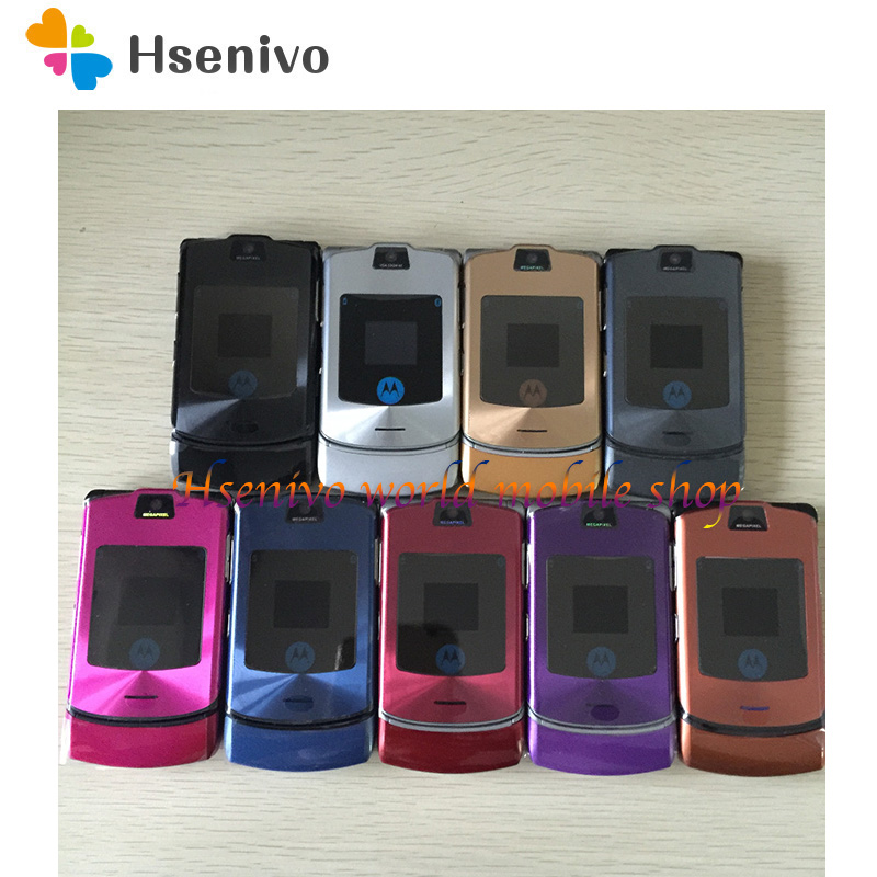 Free shipping Razr V3i 100% Original Cheap Unlocked GSM mobile phone have Russian keyboard one year warranty + Gifts