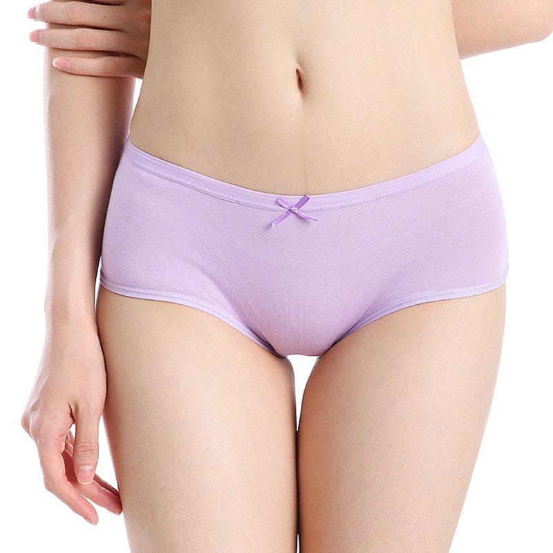 Women Menstrual Panties Physiological Pants Leak Proof Underwear Menstruation Period Bow Soft Cotton Breathable Female Briefs
