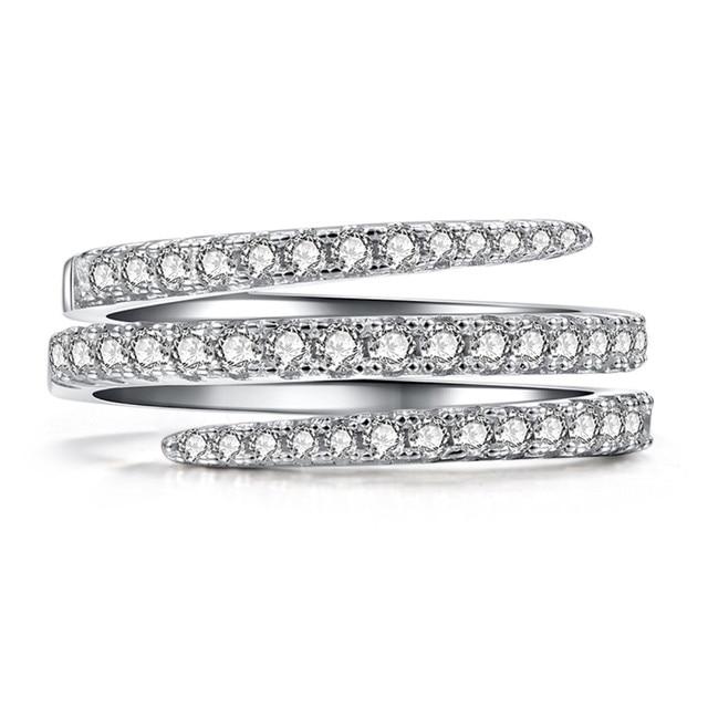 Marée marque fille bague en argent mariée élégante fiançailles mariage saint valentin anneau taille 5-10 Anillos de plata FJSL