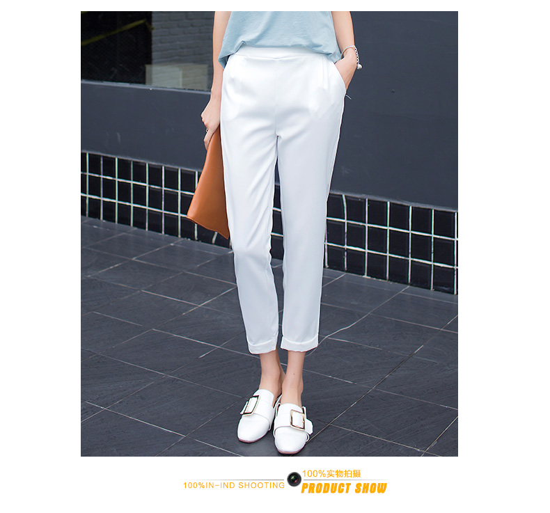 H382064707a31422caa6eda5156e7c83ex - New Plus Size Women High Waist Pants Loose Stretch Harem Pants Female Casual Long Trousers Classic Pleated Pocket Office Pants