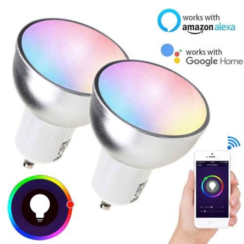 GU10 WiFi Bulb RGB Smart Light Smart Bulb Wireless WiFi App Remote Control Light Smart Home Smart Life For Alexa Google Home