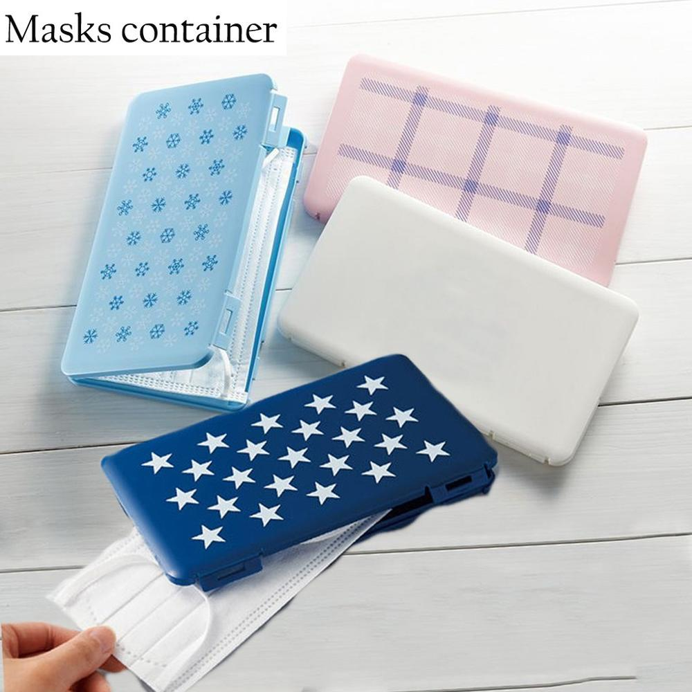 Foldable Mask  Box Storage Bag Mouth Face Mask Storage Clip