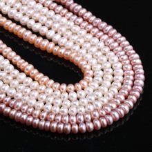 Wholesale 3 Colors 4-5 Mm Natural Freshwater Pearls Beads 38 Cm Punch Loose for Making DIY Women Necklace Bracelet