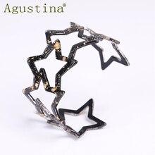 2020 Bohemian Acrylic Resin Pentagram Bracelets Bangle For Women Resin Cuff Hollow out Bracelet fashion Simple Elegant Jewelry