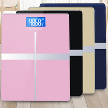 digital weight machine range 0-180kg body scale Toughened glass bathroom with Temperature display free shipping