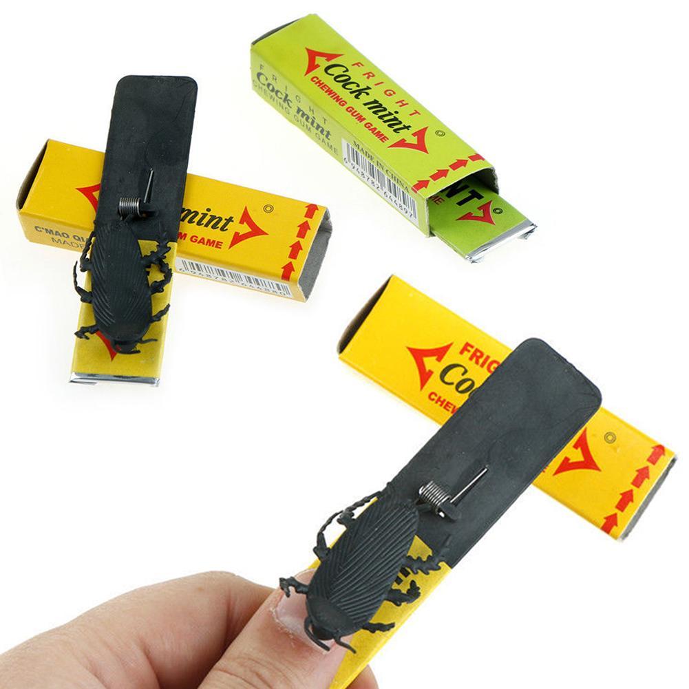 1 PC Creative Novelty Joke Chewing Gum Shocking Toy Gadget Prank Trick Gag Gifts Funny Shock Plastick Cockroach Farce Blague