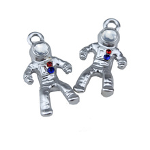 6pcs diy jewelry accessories korean necklace bracelet pendant fine alloy small with imitation drill astronaut
