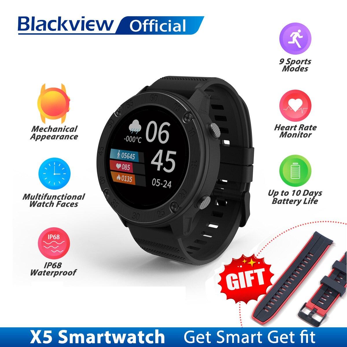 Blackview IP68 SmartWatch X5 мужские и женские спортивные часы монитор сна фитнес-трекер сердечного ритма, Смарт-часы для IOS Android