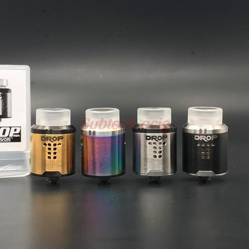 High Quality DROP RDA Tank Rebuildable Drip Atomizer 24mm With 4 Large Post Holes For Easy Coil Replacement BF Pin RDA E Cigs