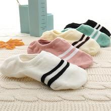 5Pairs New Arrivl Women Socks funny Fruits Cute Happy Art  Silicone Slip Invisible Sock 35-40calcetines de rayas socks
