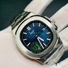 Р р механические часы с сапфировым стеклом циферблат синий нержавеющая