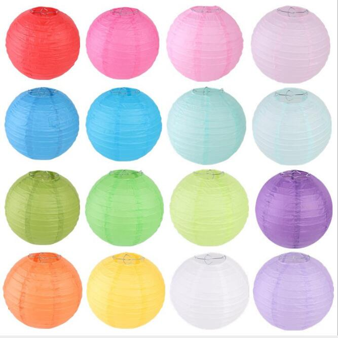 Mixed Size Round Chinese Wedding Paper Lanterns Birthday Wedding Decor Gift Craft DIY Lampion Hanging Ball Party Supplies