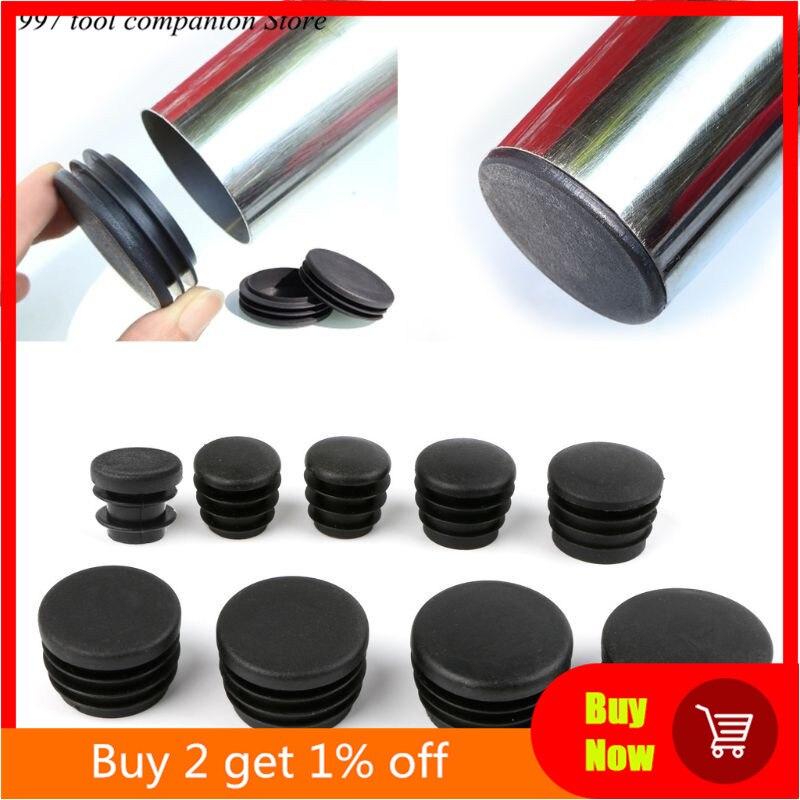 Leg-Plug Pipe-Tube Furniture Round Plastic Black for Hot-Selling 10pcs Bung Blanking-End-Cap