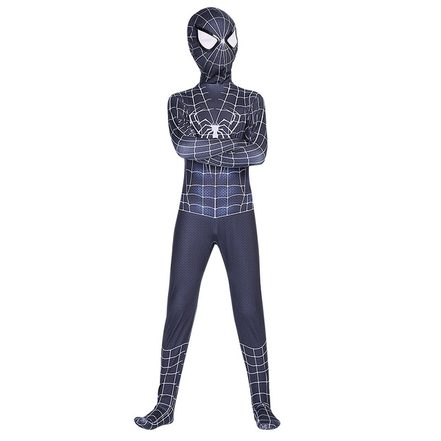 High Quality spider boy Costume Fancy Dress Adult And kid man Halloween Costume Red Black man Spandex 3D Cosplay Clothing 4