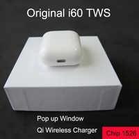 Ventana Emergente i60 tws Bluetooth auricular Mini auriculares de carga inalámbrica PK i10 i30 i500 i200 tws Bluetooth 5,0 ESTÉREO bass