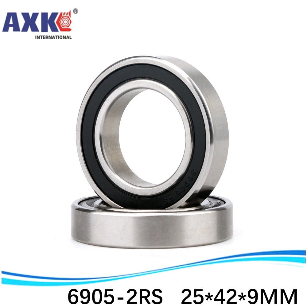 25x42x7 mm Metal Rubber Sealed Ball Bearings 25*42*7 6905-2RS width 7mm 4 PC