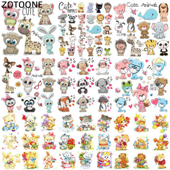 ZOTOONE Stranger Things Cartoon Cute Animal Iron on Patches for Children T-shirt Diy Patch Stickers Heat Transfers Clothes G